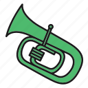 entertainment, music, musical, rhythm, song, tuba, wind instruments icon