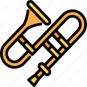 trombone, jazz, orchestra, music, instruments, musical, play