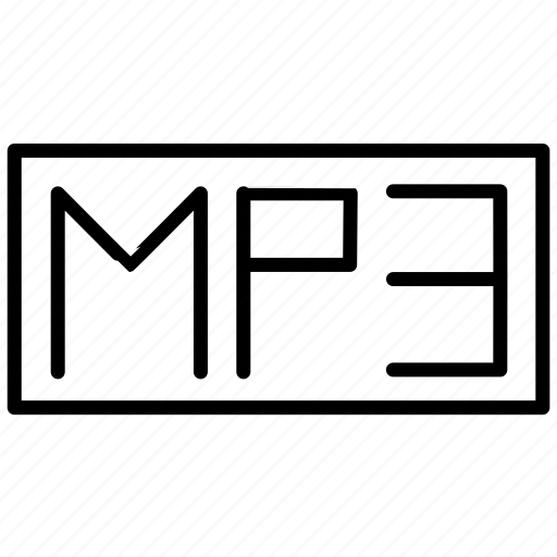 audio, mp4, multimedia, music, music format icon