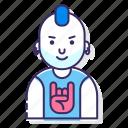 avatar, boy, man, punk icon
