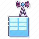 antenna, radio, signal, station icon
