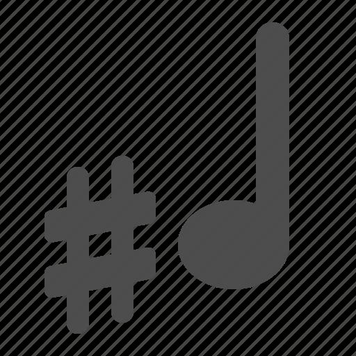 music, music note, music notes, musical, note, notes, sharp, sheet music icon