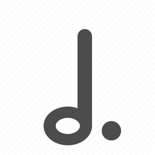 dot, dotted, half note, music, music note, music notes, musical, note, notes, sheet music icon