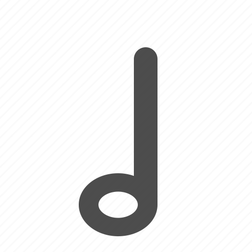 half note, music, music note, music notes, musical, note, notes, sheet music icon