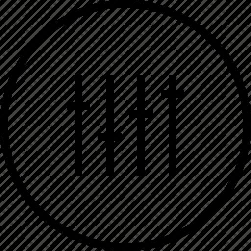 equalizer, music, setting, ui icon icon