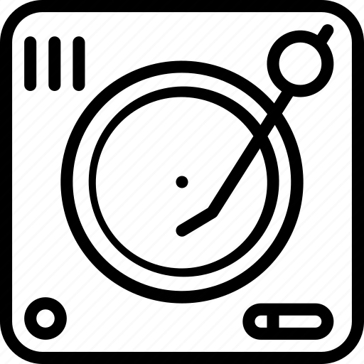 decks, instruments, media, music, player, turntable icon