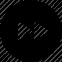arrow, fast, forward, music, next, right icon