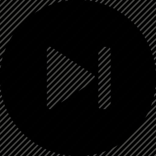 arrow, forward, music, next, right icon
