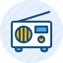 instrument, music, radio, tape icon