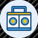instrument, music, radio, tape