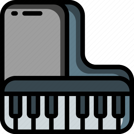 grand, instruments, keyboard, music, piano, strings icon