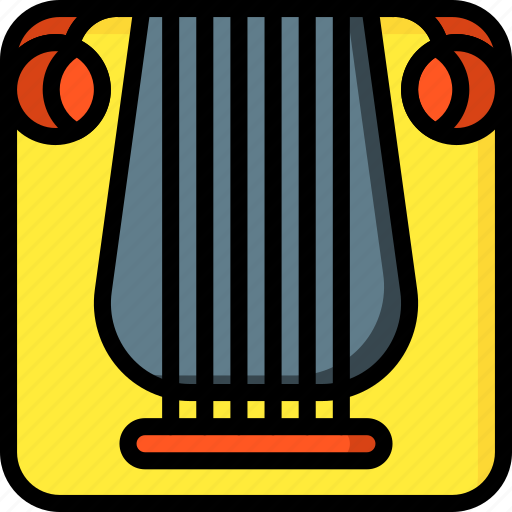 band, classical, harp, instruments, music, strings icon