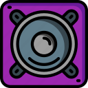 instruments, media, music, player, sound, speaker icon
