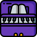 instruments, keyboard, music, piano, strings icon