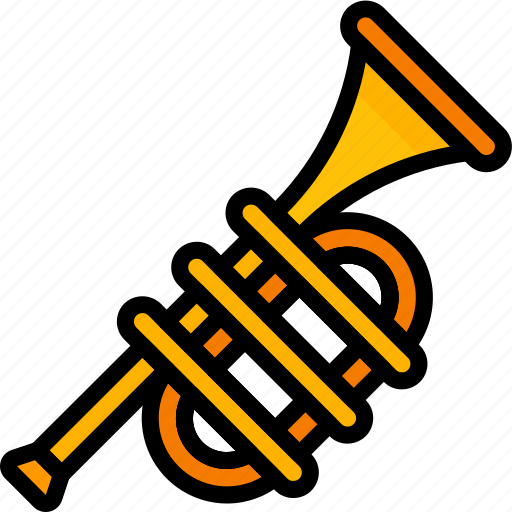 band, brass, instruments, music, trumpet icon