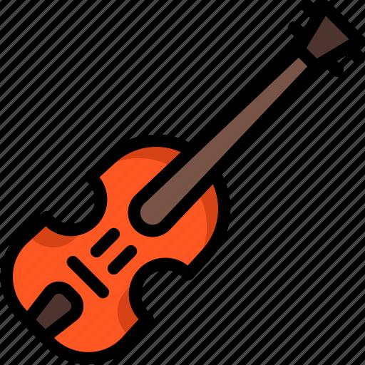 fiddle, instruments, music, strings, viola, violin icon