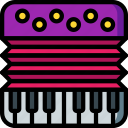 accordian, instruments, music, wind icon
