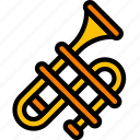 band, brass, instruments, music, trombone icon