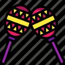 instruments, maracas, music, percussion icon