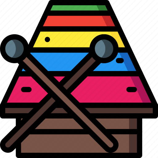 instruments, music, percussion, xylophone icon