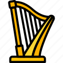 band, harp, instruments, music, strings icon