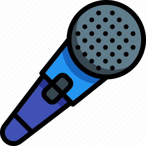 instruments, microphone, music, recording icon