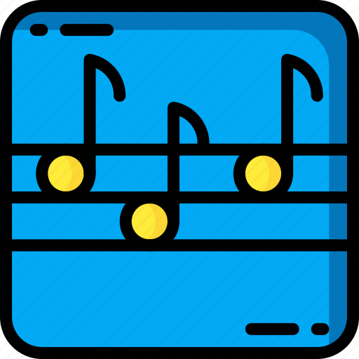 instruments, media, music, notes, player icon