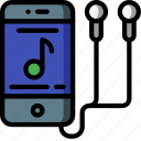 instruments, iphone, media, mp3, music, player icon