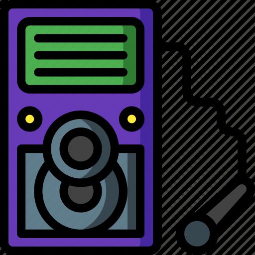 karaoke, machine, media, music, player, sing icon