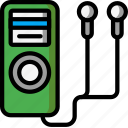 instruments, ipod, media, mp3, music, player icon