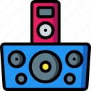 dock, instruments, ipod, media, mp3, music, player icon