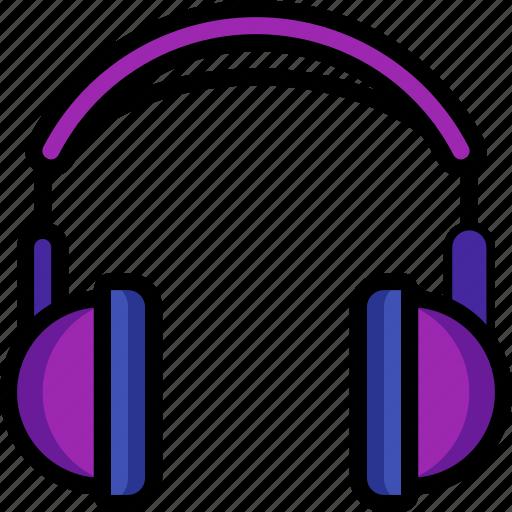 headphones, instruments, media, music, player icon