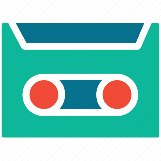 audio cassette, audiotape, cassette, tape icon