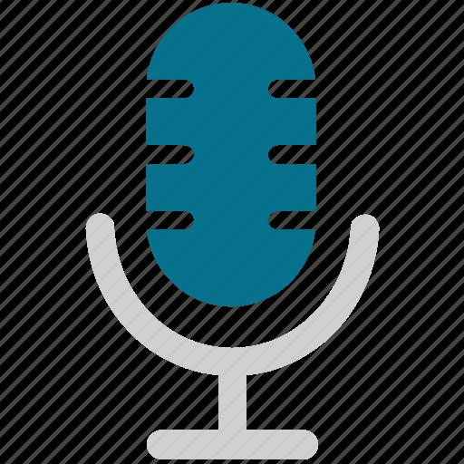 mic, microphone, radio mic, sound recorder, studio mic icon