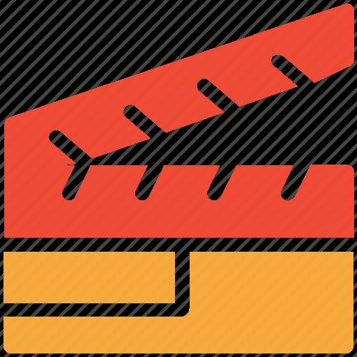 cinema, clapper, film, video icon