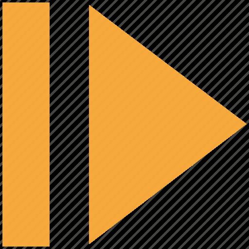 arrow, fast, forward, next icon