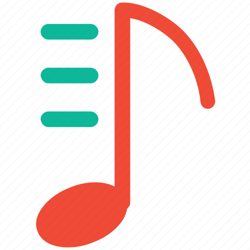 eighth note, musical sing, musical symbol, note icon
