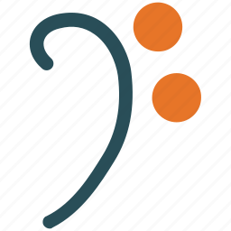 f clef, musical note, musical sign, musical symbol icon