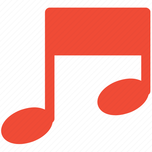 musical note, musical sign, note, single bar icon