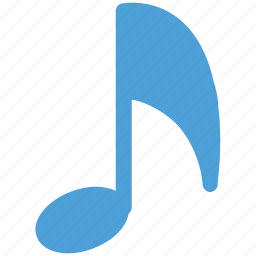 eighth note, music, musical note, musical sign icon