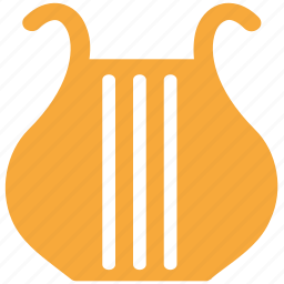 harp, instrument, lyre, music icon
