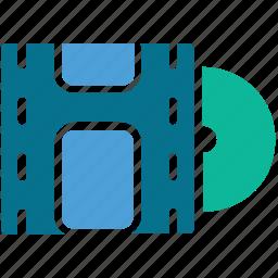 cd, film, movie, video icon