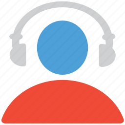 earphone, head set, headphone, listen icon