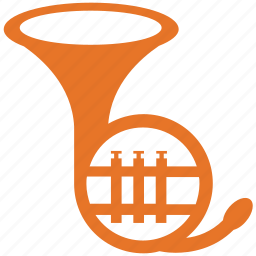 horn, musical instrument, trumpet, tuba icon