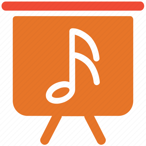 display, music, music sign, screen icon