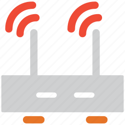 router, wifi router, wifi signals, wireless router icon