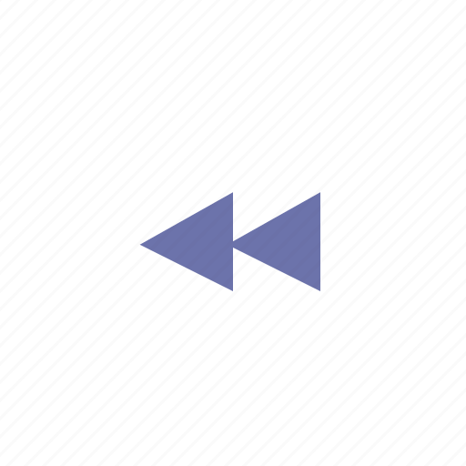 music, previous, rewind, triangle icon