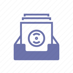 album, collection, disk, library, music, record library, video icon