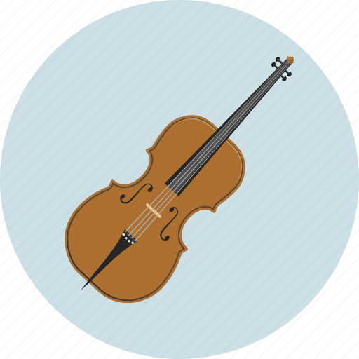 contrabass, double bass, instrument, music, sound icon