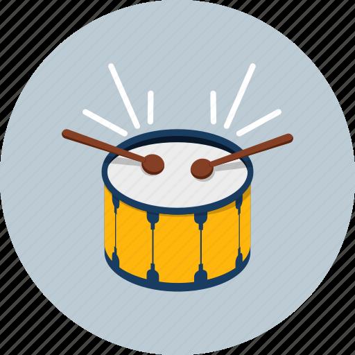 audio, drum, instrument, media, music, percussion, sound icon